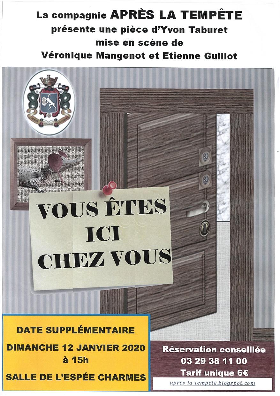 PIÈCE DE THÉÂTRE 'VOUS ÊTES ICI CHEZ VOUS' Charmes   2020-01-12