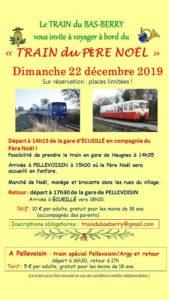 Train spécial du Père-Noël 2020-12-20 Écueillé