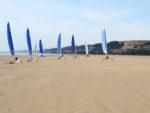 Balade en char à voile sur la plage d'Omaha Beach Saint-Laurent-sur-Mer