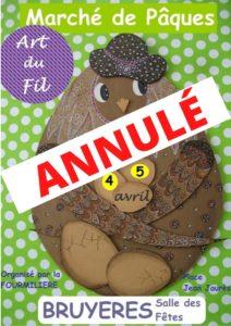 MARCHÉ DE PÂQUES ET ARTS DU FIL - ANNULÉ Bruyères