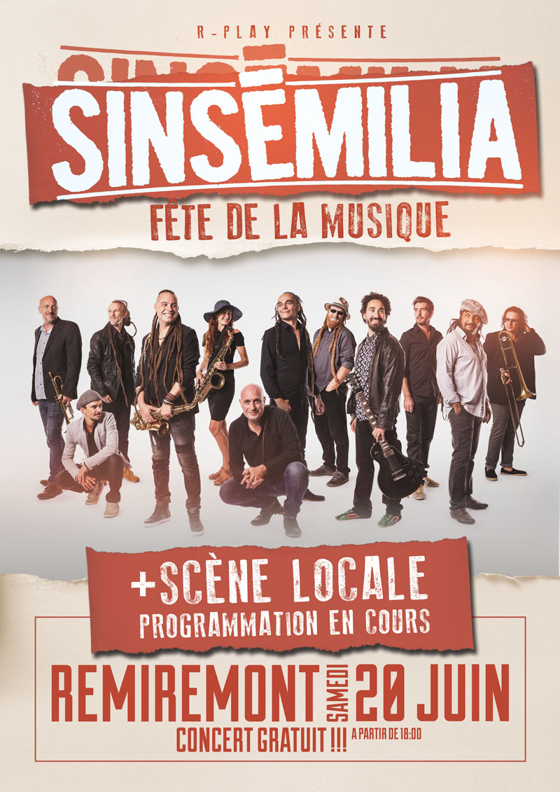 Sinsemilia En Concert Gratuit Fdlm 2021 Remiremont Samedi 19 Juin 2021