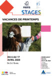 STAGES JEUNES VACANCES DE PRINTEMPS Centre Paris Anim' Point du Jour