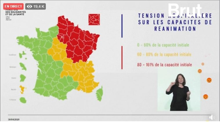carte départementale coronavirus