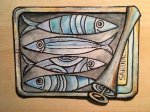 """Atelier créatif """"qu'est ce qu'on peut faire avec une boite de sardine"""" Fort-Mahon-Plage"""