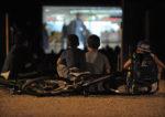 Cinéma en plein air sur la place Marsan Biscarrosse   2021-08-02