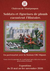 Exposition 2021 au Château de Montpoupon  Soldats et figurines en plomb racontent l'histoire Céré-la-Ronde