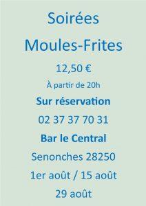 Soirées Moules/Frites - Bar Le Central Senonches Senonches