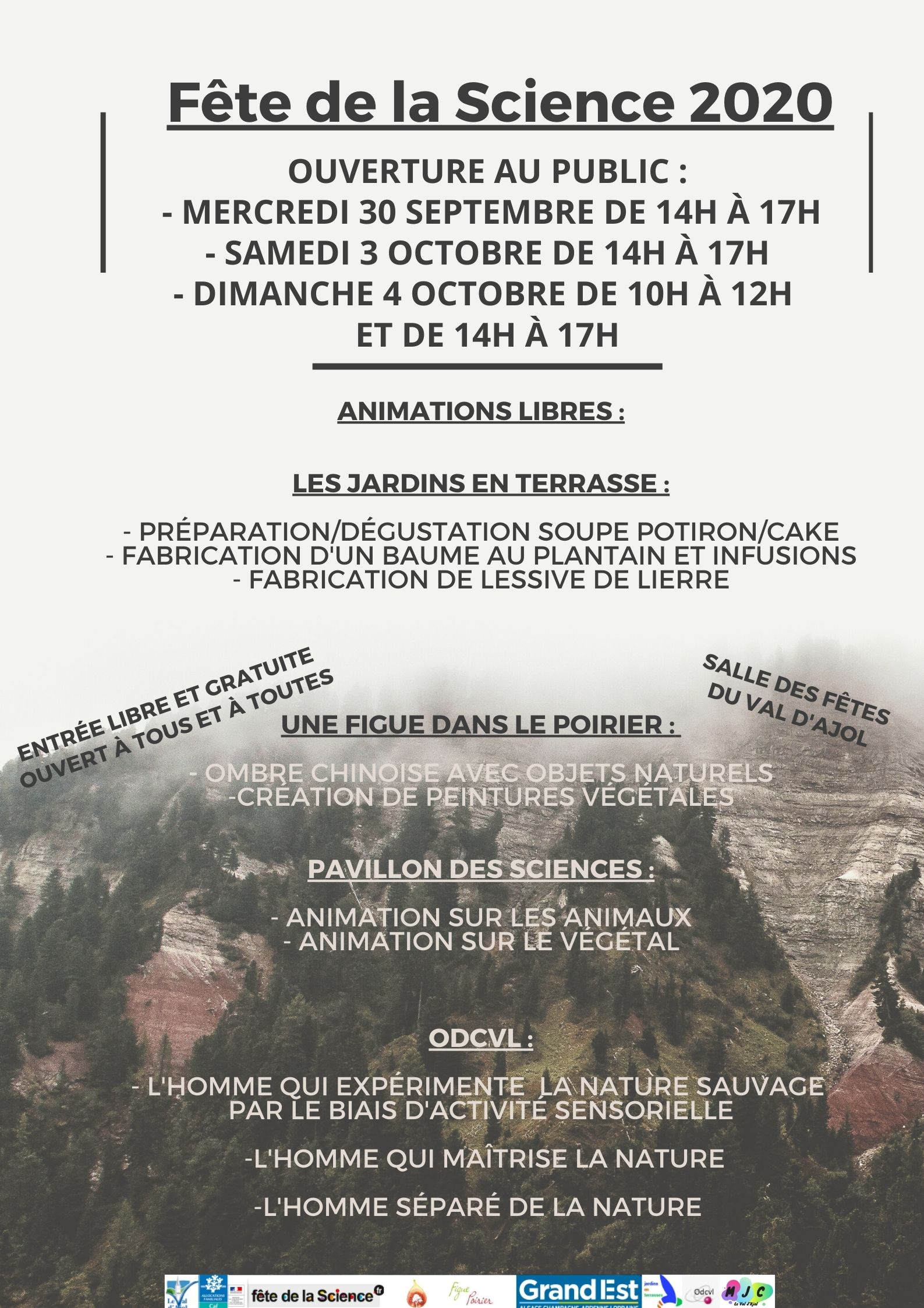 FÊTE DE LA SCIENCE Le Val-d'Ajol