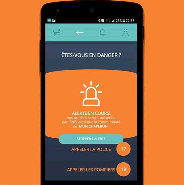 Application Mon Chaperon Smartphone Agression Sécurité