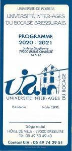 Conférence Université Inter-âges - Histoire - géographie Bressuire   2021-04-08