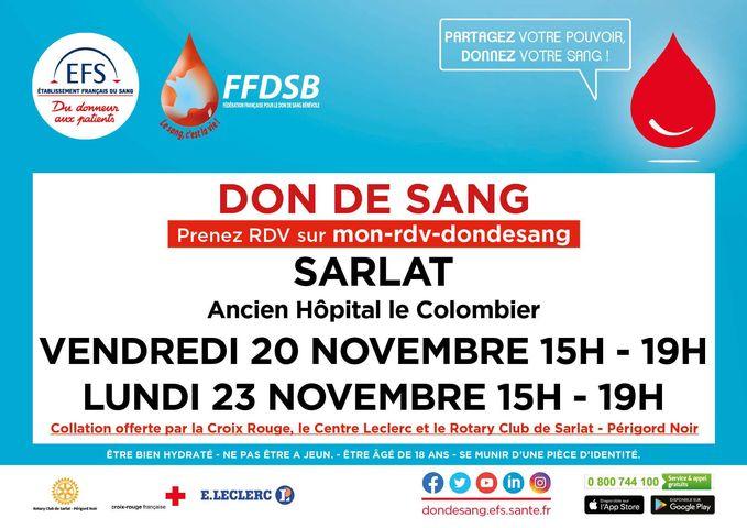 Don du sang Sarlat-la-Canéda