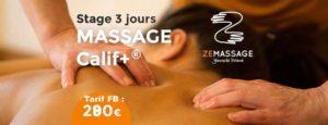 Stage de massage 3 jours Zemassage Paris