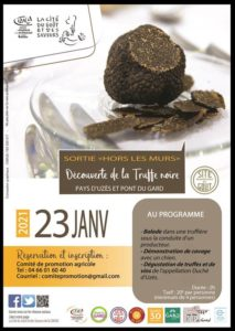 Découverte du Site Remarquable du Goût Truffes noires du Pays d'Uzès et Pont du Gard 2021-01-23 Uzès
