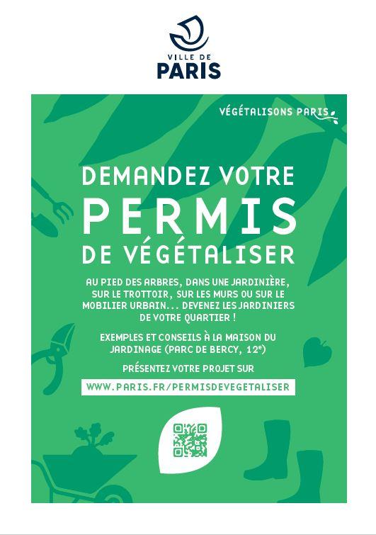 Bien démarrer son Permis de végétaliser Maison du Jardinage - Pôle ressource Jardinage Urbain Paris
