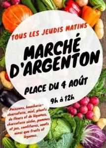 Marché d'Argenton-Les-Vallées Argentonnay