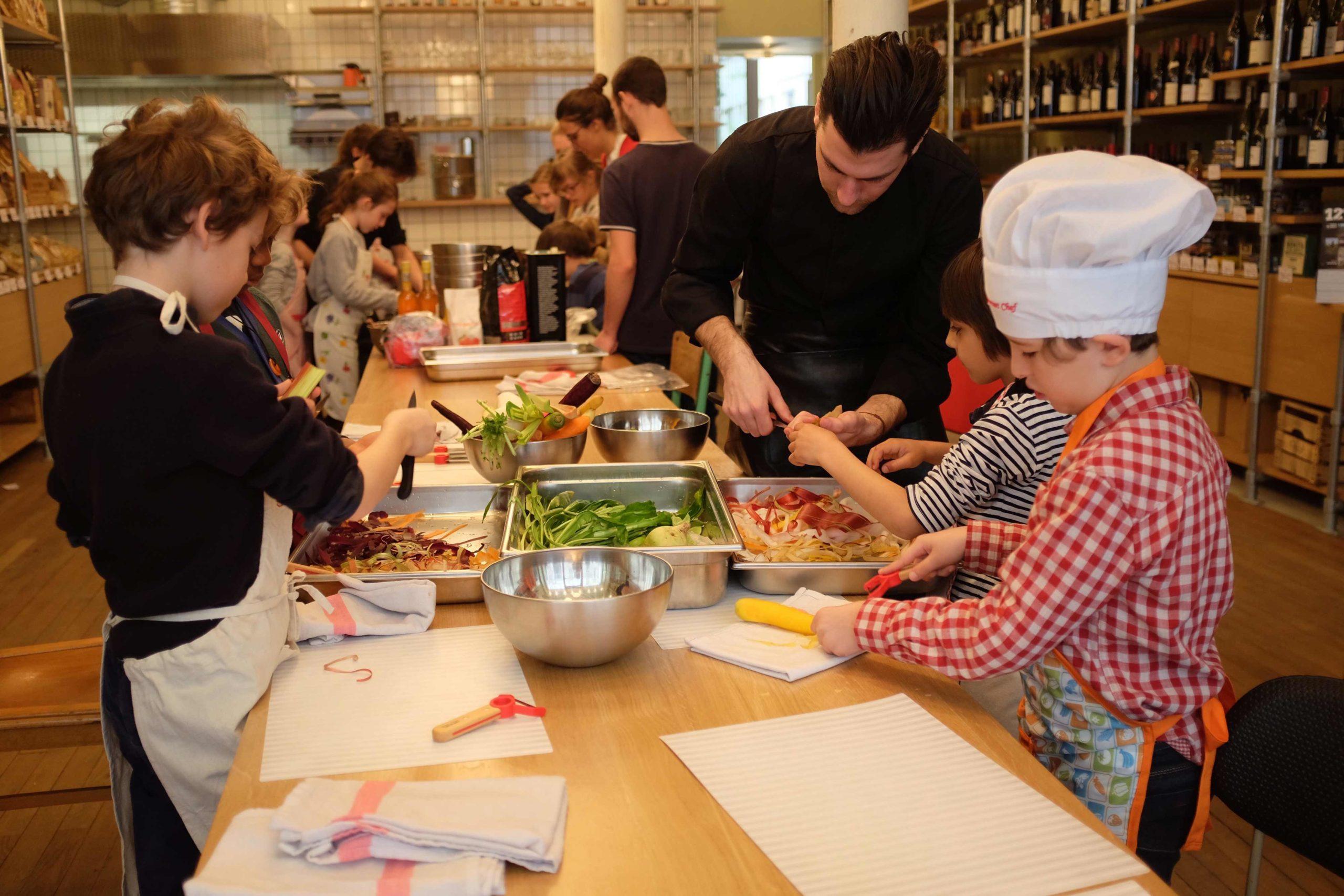 Stage cuisine et sensibilisation bien-manger - enfants Paris Jacques Bonsergent Paris