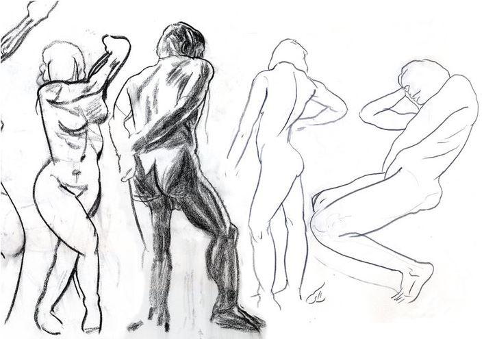 Stage de dessin de morphologie : les muscles du corps humain Musée du Louvre Paris