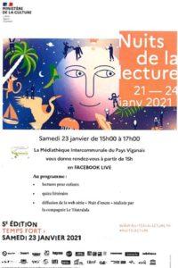 5ème Nuit de la Lecture Le Vigan   2021-01-23