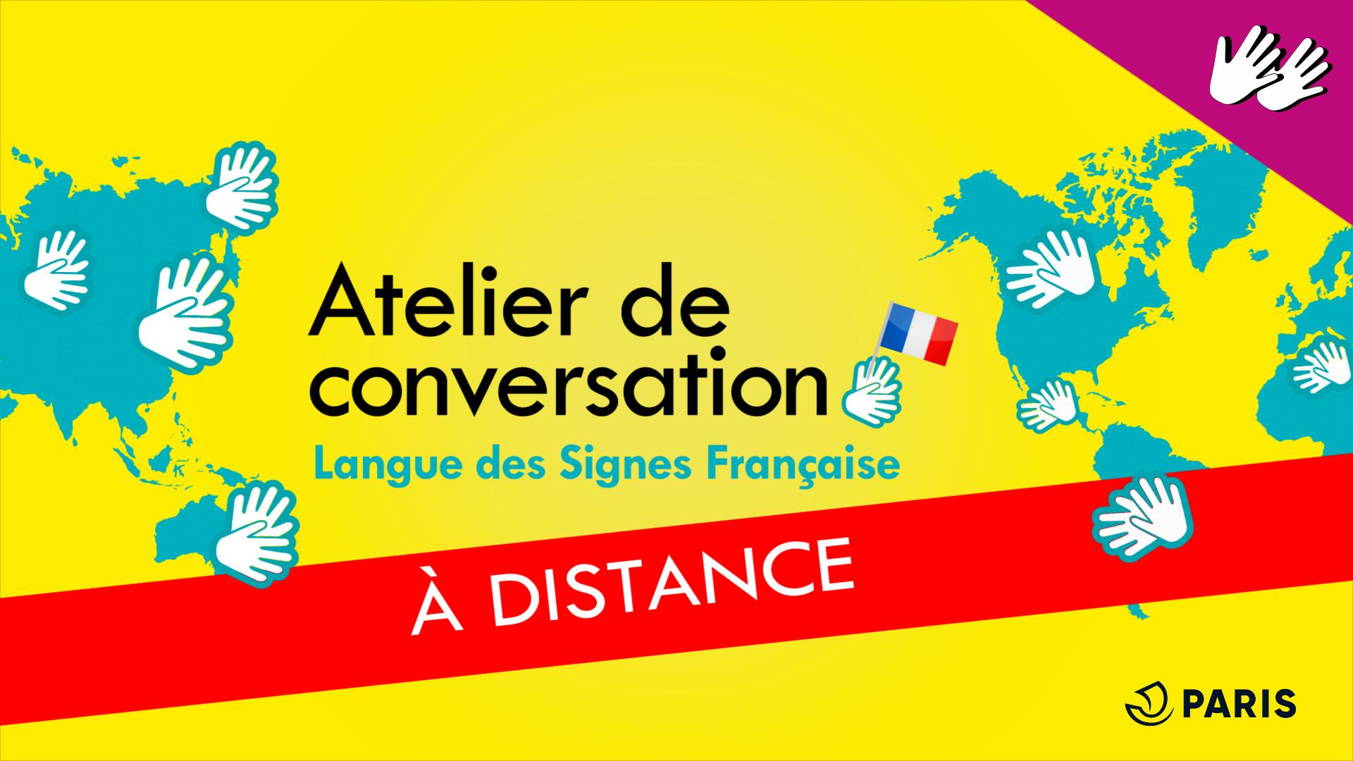 Atelier de conversation en LSF [EN LIGNE] Médiathèque de la Canopée la fontaine Paris