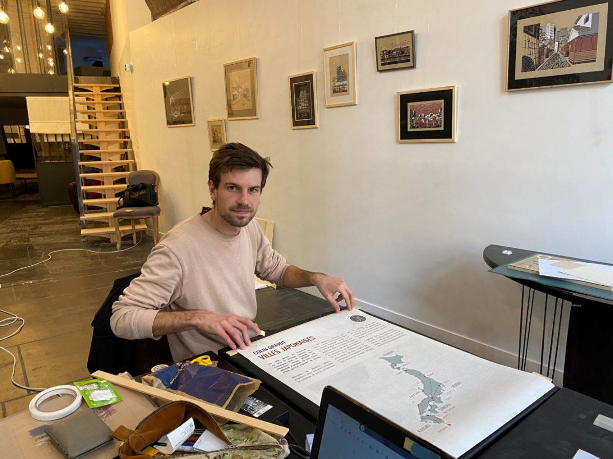 Colin Gravot la conciergerie d'art linogravure exposition villes japonaises