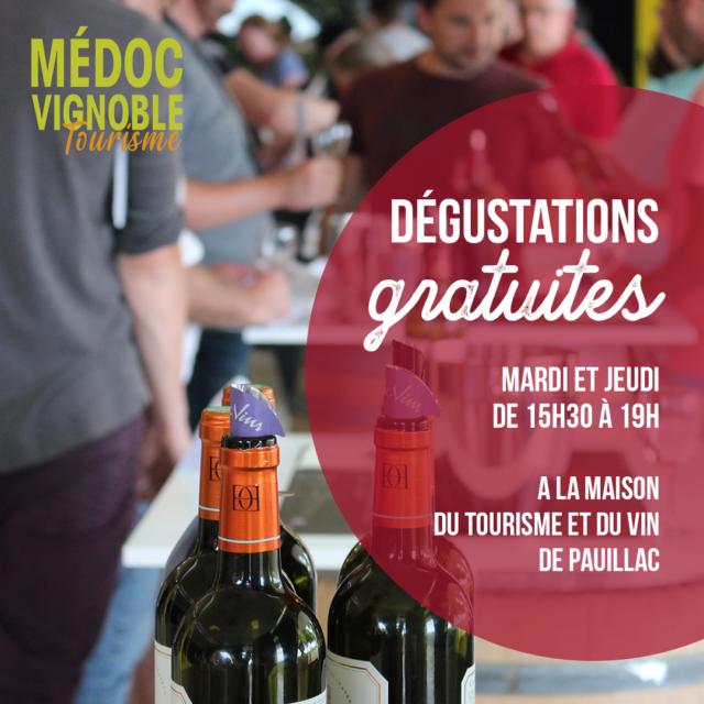 Dégustations gratuites avec les viticulteurs Pauillac