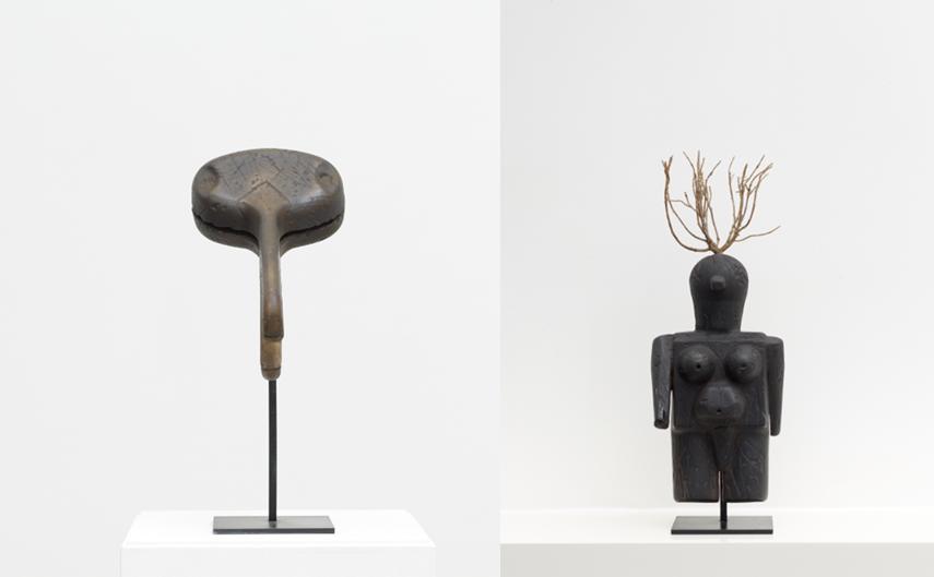 """Exposition des """"Idoles"""" du plasticien Philippe Mayaux Médiathèque Jean-Pierre Melville Paris"""