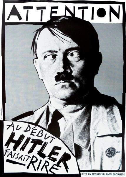 affiche Hitler Jean Marie Le Pen Alain Le Quernec