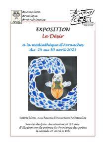 """Exposition d'art - """"Le désir"""" - organisée par l'Association Artistique Avranchinaise Médiathèque Avranches"""