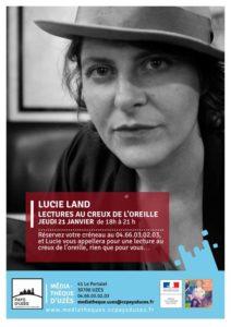 Nuits de la lecture - Lectures au creux de l'oreille par Lucie Land Uzès   2021-01-21