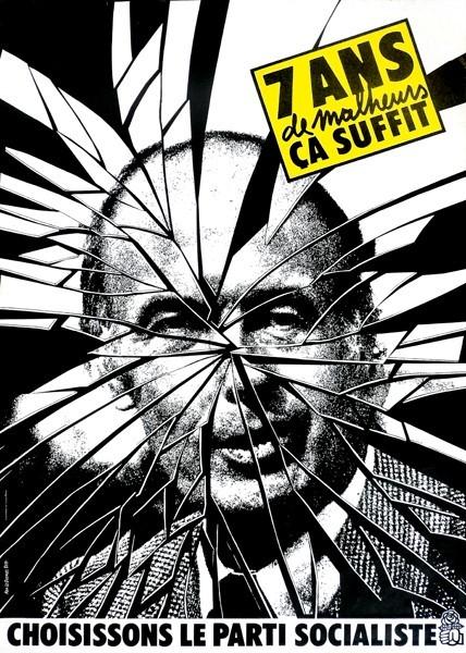 Valérie Giscard d'Estaing Alain Le Quernec affiche sept ans de malheur Parti Socialiste