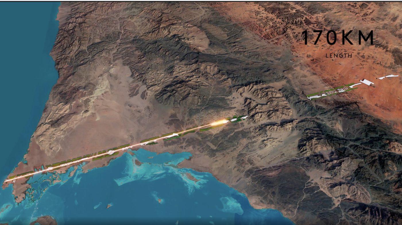 THE LINE. CITÉ FUTURISTE DE MBS EN ARABIE SOUADITE