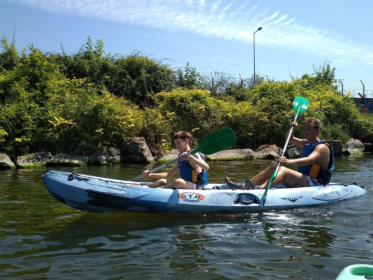 Balade en kayak à la découverte du canal de Caen