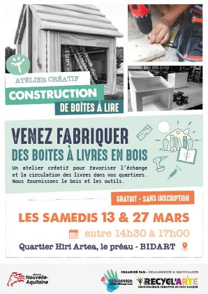 Atelier créatif – Construction de boîtes à lire