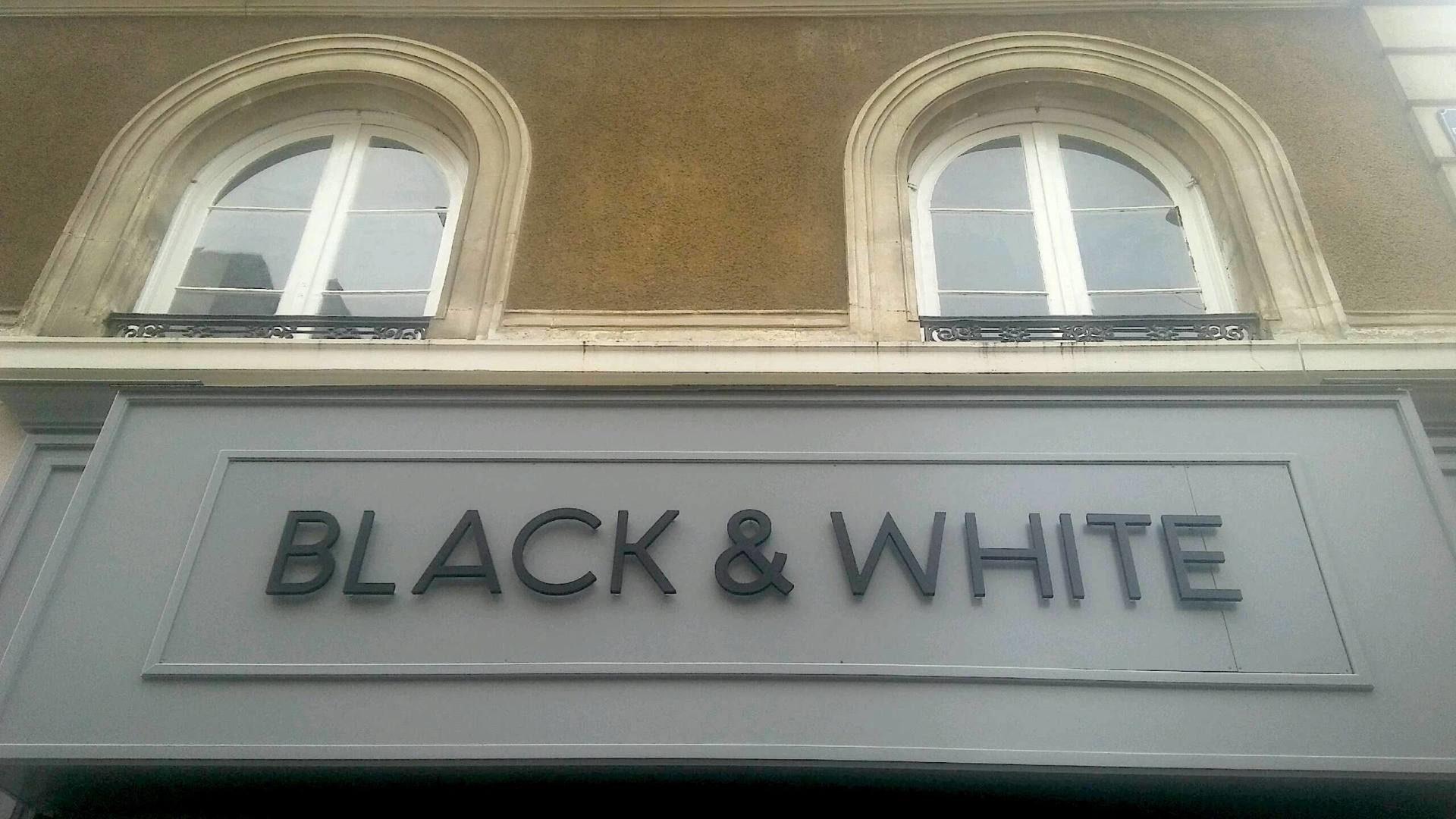 black white burger