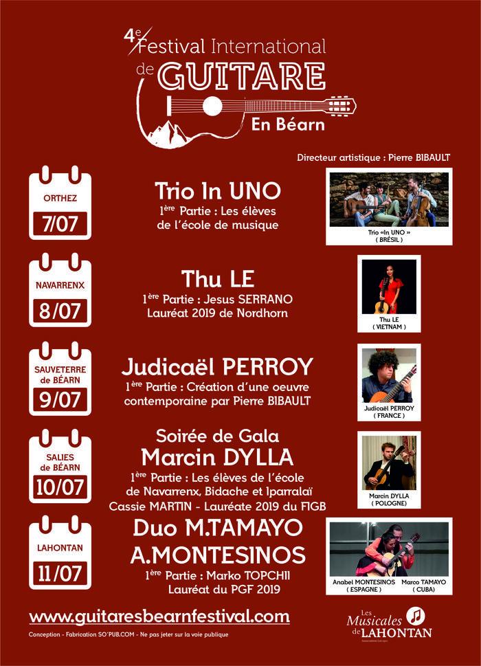 Festival International de Guitare en Béarn 2021 Cours de l'Arsenal Navarrenx Navarrenx