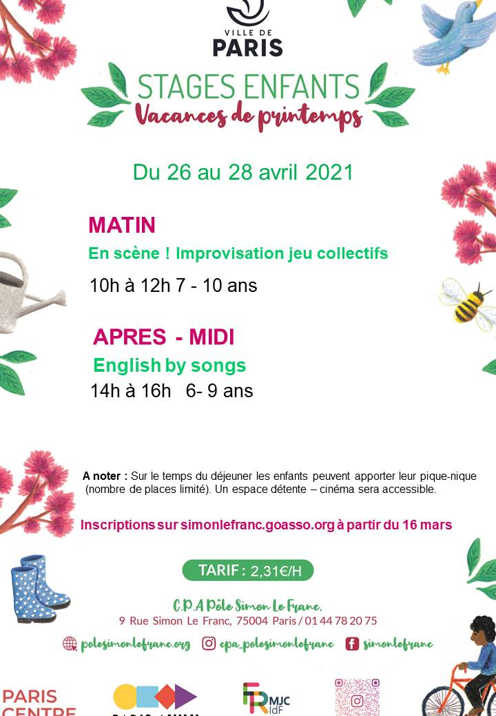 En scène ! Improvisation jeu collectif Centre Paris Anim'  Pôle Simon Lefranc Paris