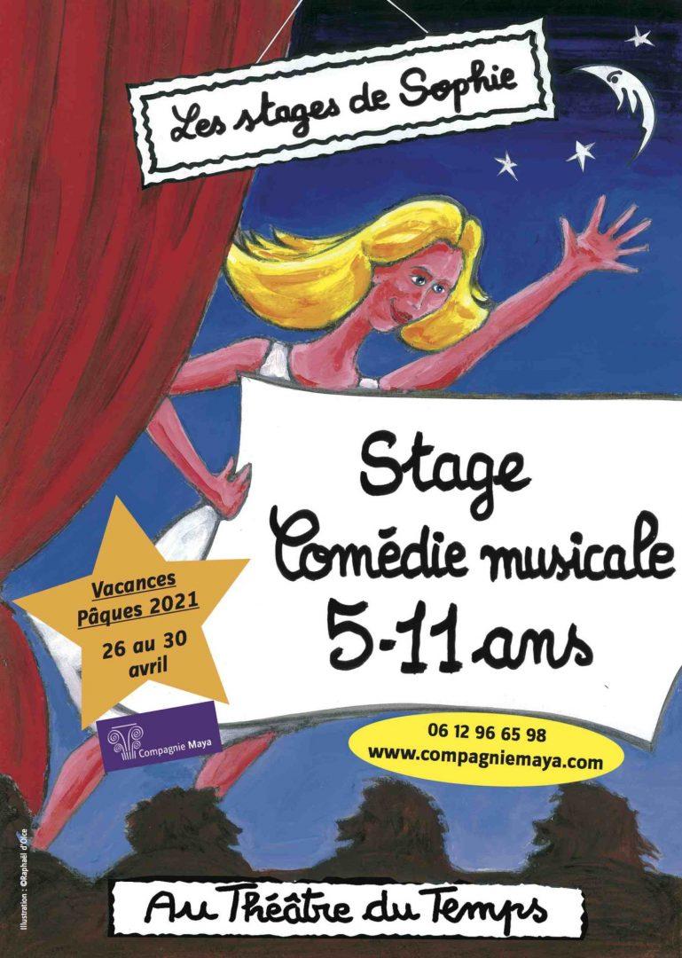 Stages 5-11 ans Comédie Musicale Pâques 2021 Théâtre du temps Paris