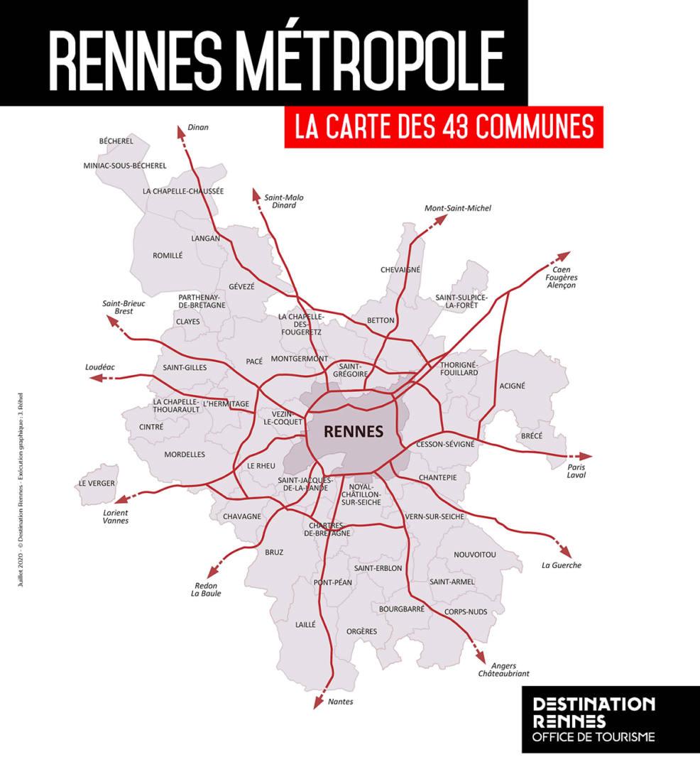 43 communes rennes