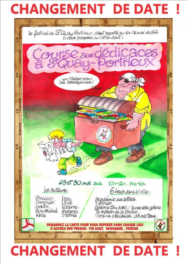 Course aux dédicaces à Saint-Quay-Portrieux