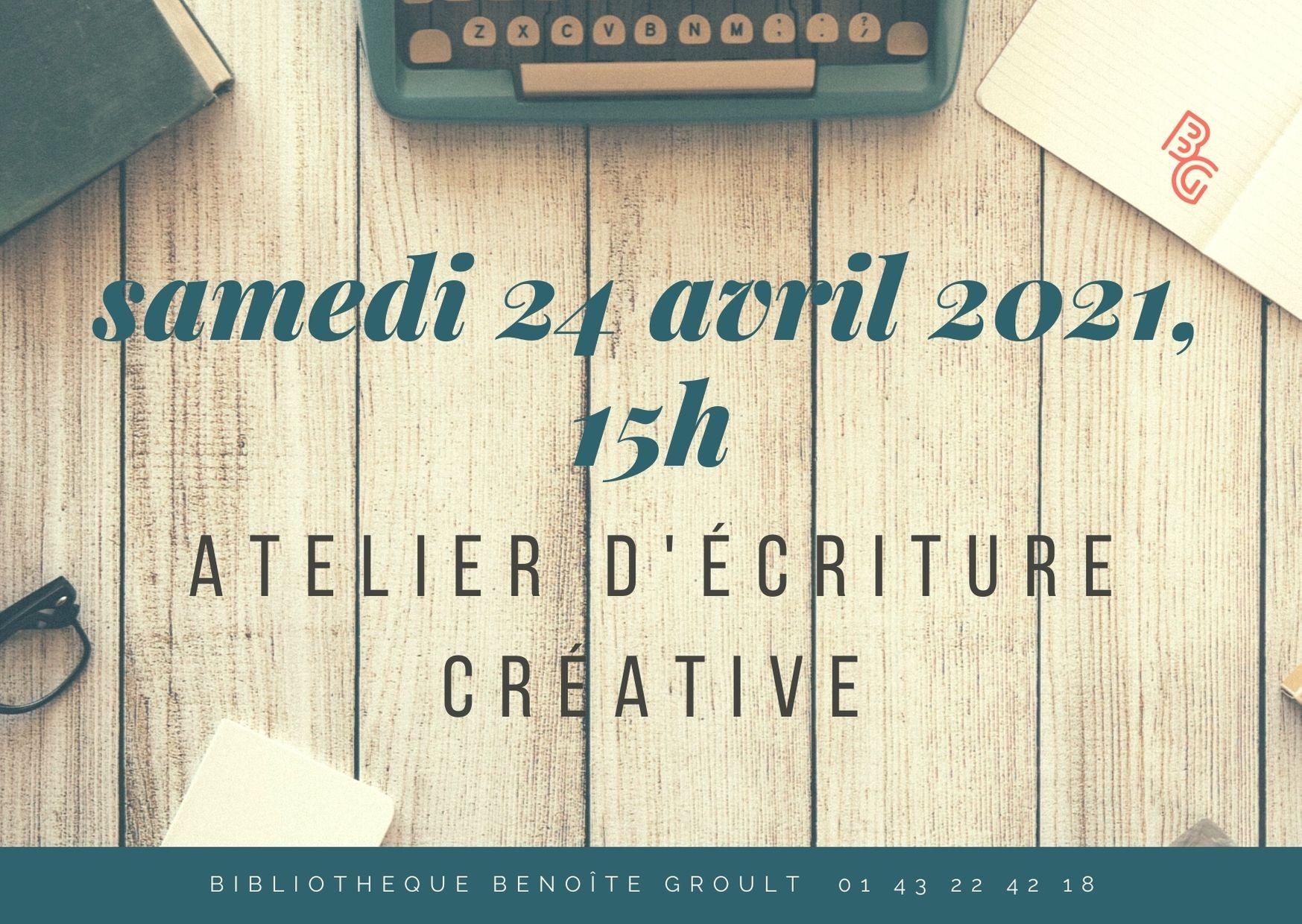 Atelier d'écriture en ligne Bibliothèque Benoîte Groult Paris