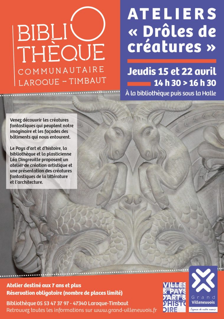 """Ateliers """"drôles de créatures"""" Villeneuve-sur-Lot"""