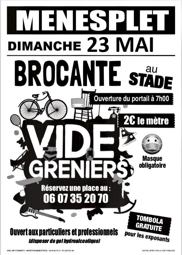 Brocante-vide-grenier du Foot Ménesplet   2021-05-23