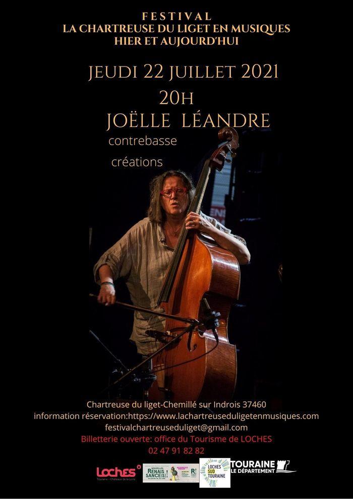 concert Joëlle Léandre contrebasse solo Chartreuse du Liget Chemillé-sur-Indrois