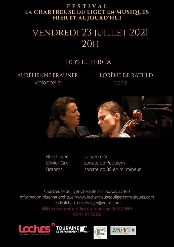 Duo Luperca piano/violoncelle Chartreuse du Liget Chemillé-sur-Indrois