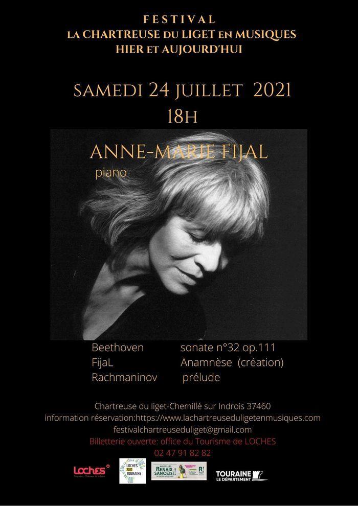 Anne-Marie Fijal Piano concert Chartreuse du Liget Chemillé-sur-Indrois