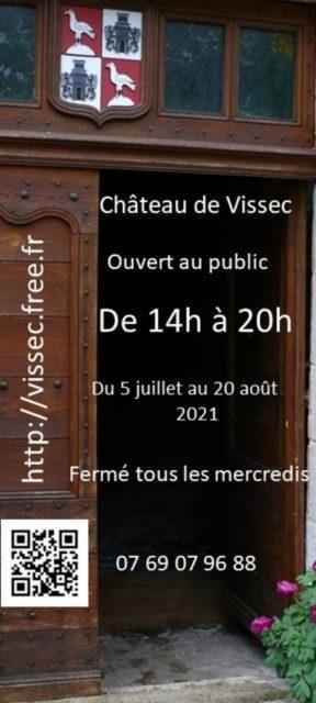 Visite guidée gratuite et exposition d'aquarelles cévenoles Château de Vissec Vissec