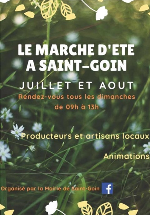 Marché d'été à Saint-Goin Saint-Goin