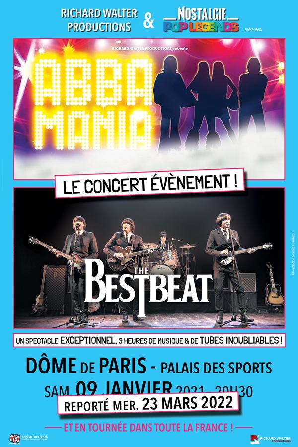 Pop Legends : Abba et The Beatles LE DOME  DE PARIS Paris5ème
