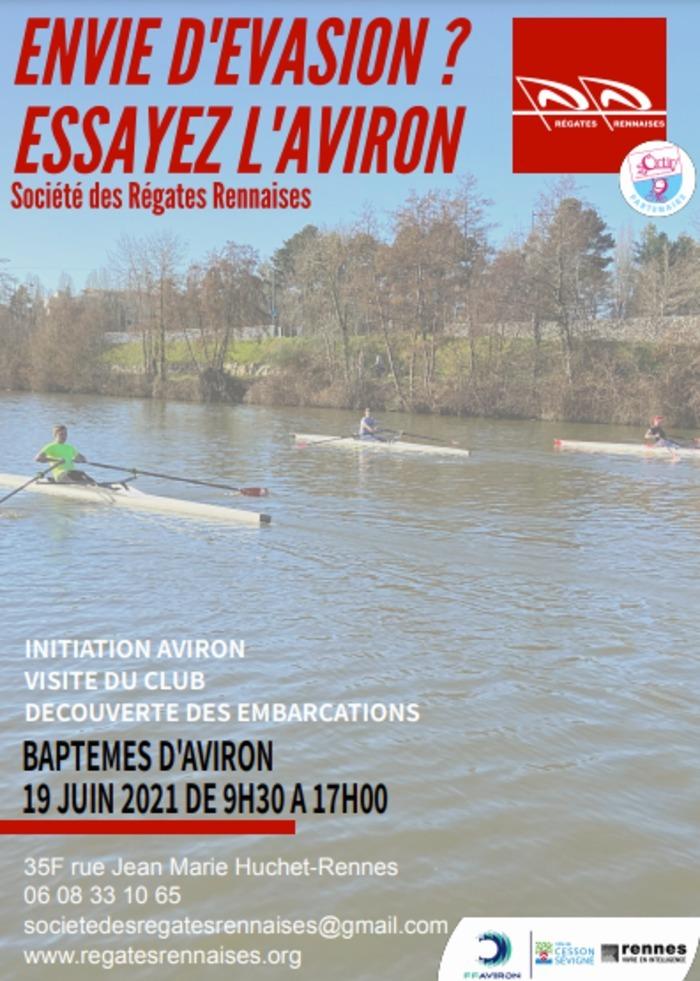 Portes Ouvertes & Baptêmes d'Aviron Base Nautique Plaine de Baud Rennes