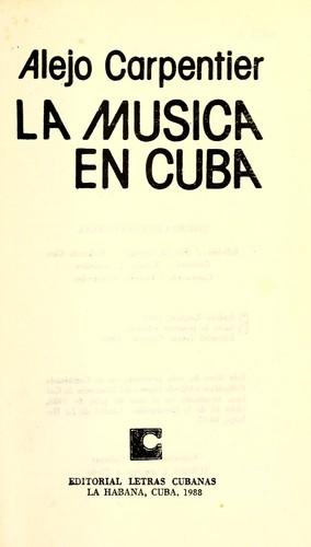 LA MUSICA EN CUBA